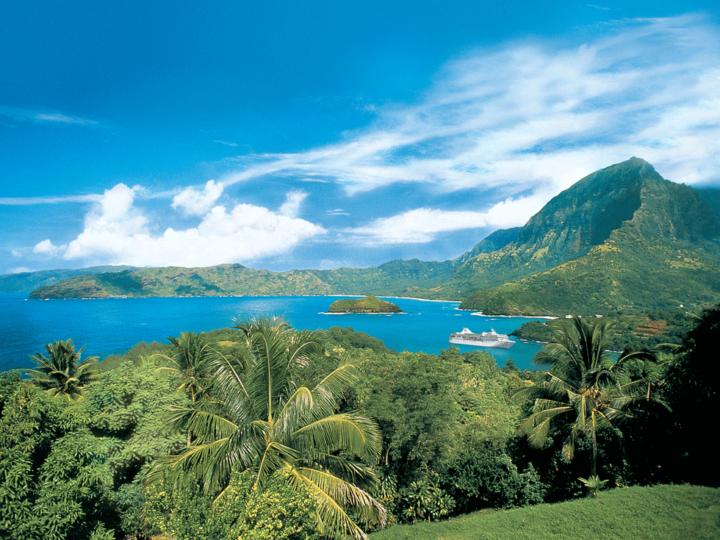 Hiva Oa Island in the Marquesas