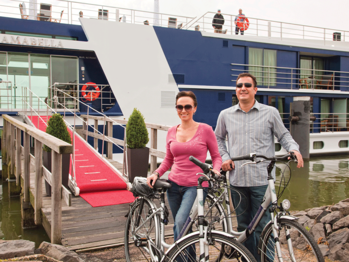 AmaBella Cruise Lines offers bicycles for their guests.